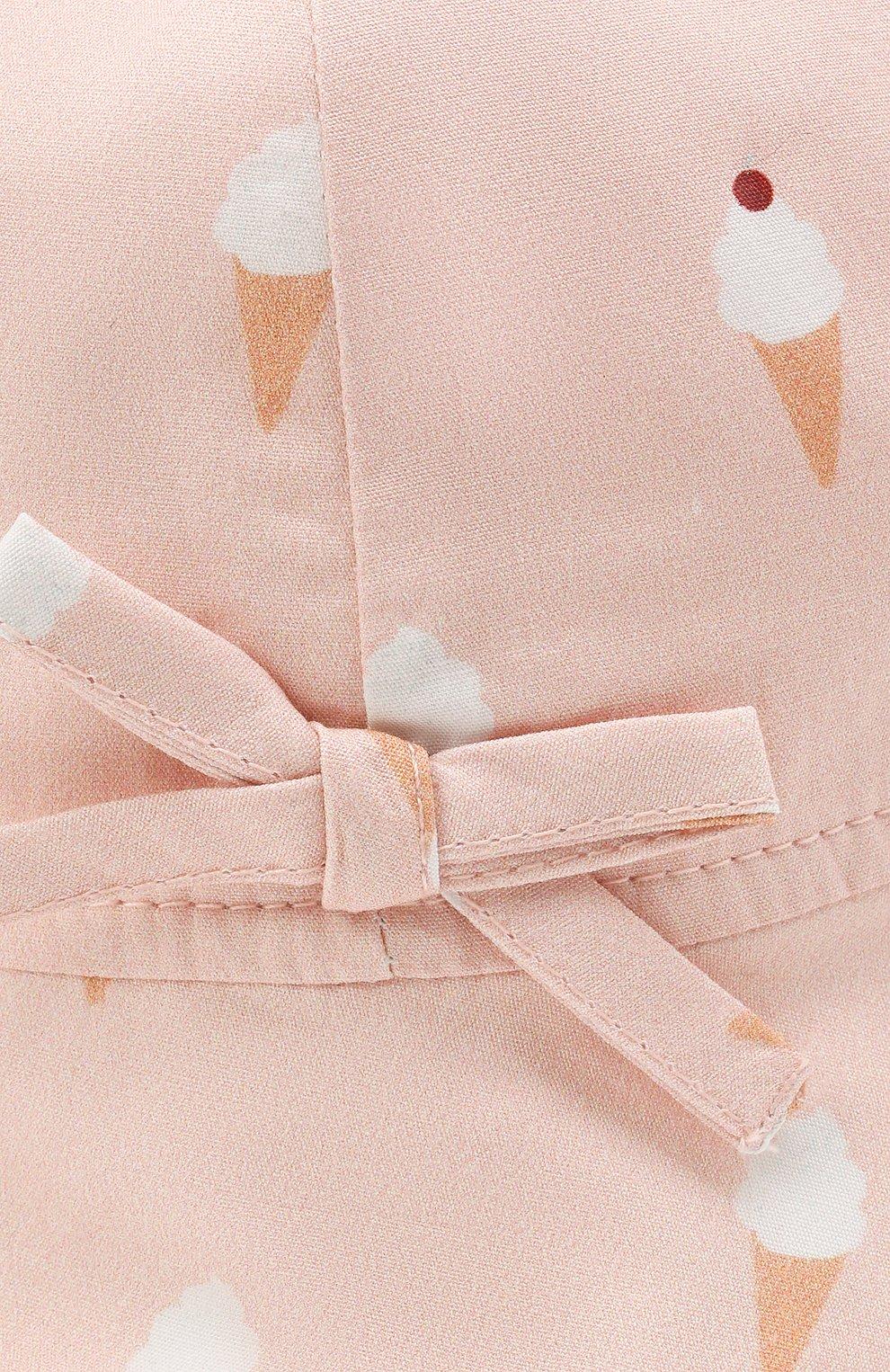 Детская хлопковая панама LES LUTINS PARIS розового цвета, арт. 21E401/B0B JEANNE | Фото 3 (Материал: Текстиль, Хлопок)