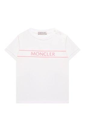 Детский комплект из футболки и брюк MONCLER белого цвета, арт. G1-951-8M762-10-8790N | Фото 2