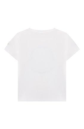 Детский хлопковая футболка MONCLER белого цвета, арт. G1-951-8C734-20-8790N | Фото 2