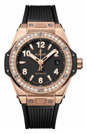 Женские часы one click gold diamonds HUBLOT бесцветного цвета, арт. 485.OX.1180.RX.1204 | Фото 1