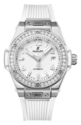 Женские часы one click steel white diamonds HUBLOT бесцветного цвета, арт. 485.SE.2010.RW.1204 | Фото 1