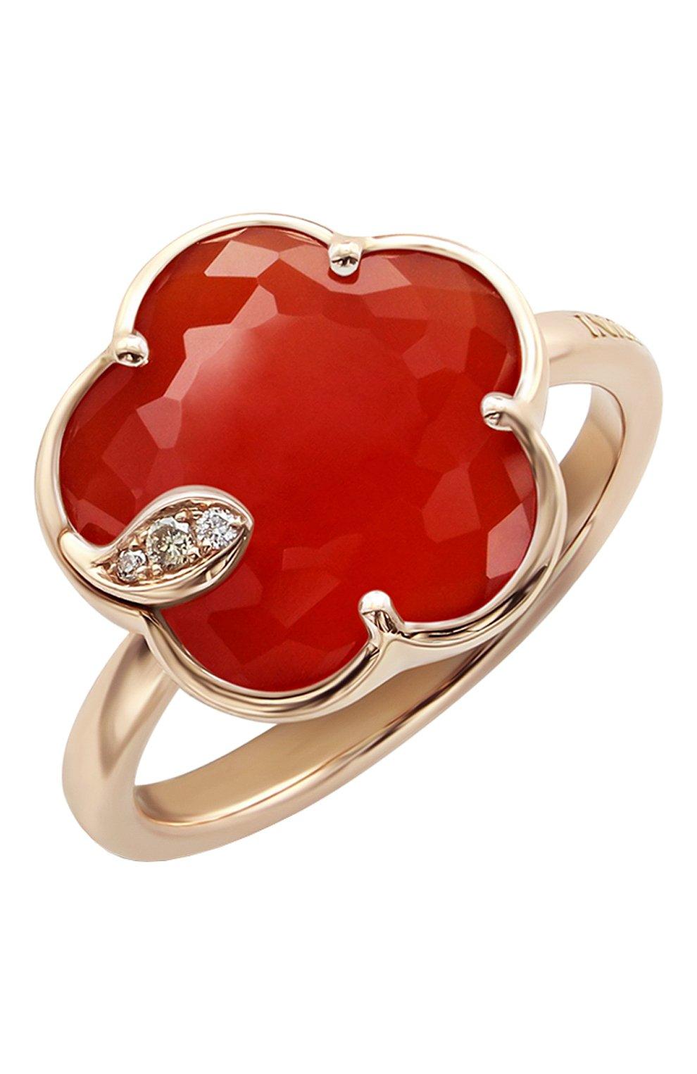 Женские кольцо PASQUALE BRUNI бесцветного цвета, арт. 16241R   Фото 1 (Драгоценные камни: Бриллианты; Материал сплава: Розовое золото)