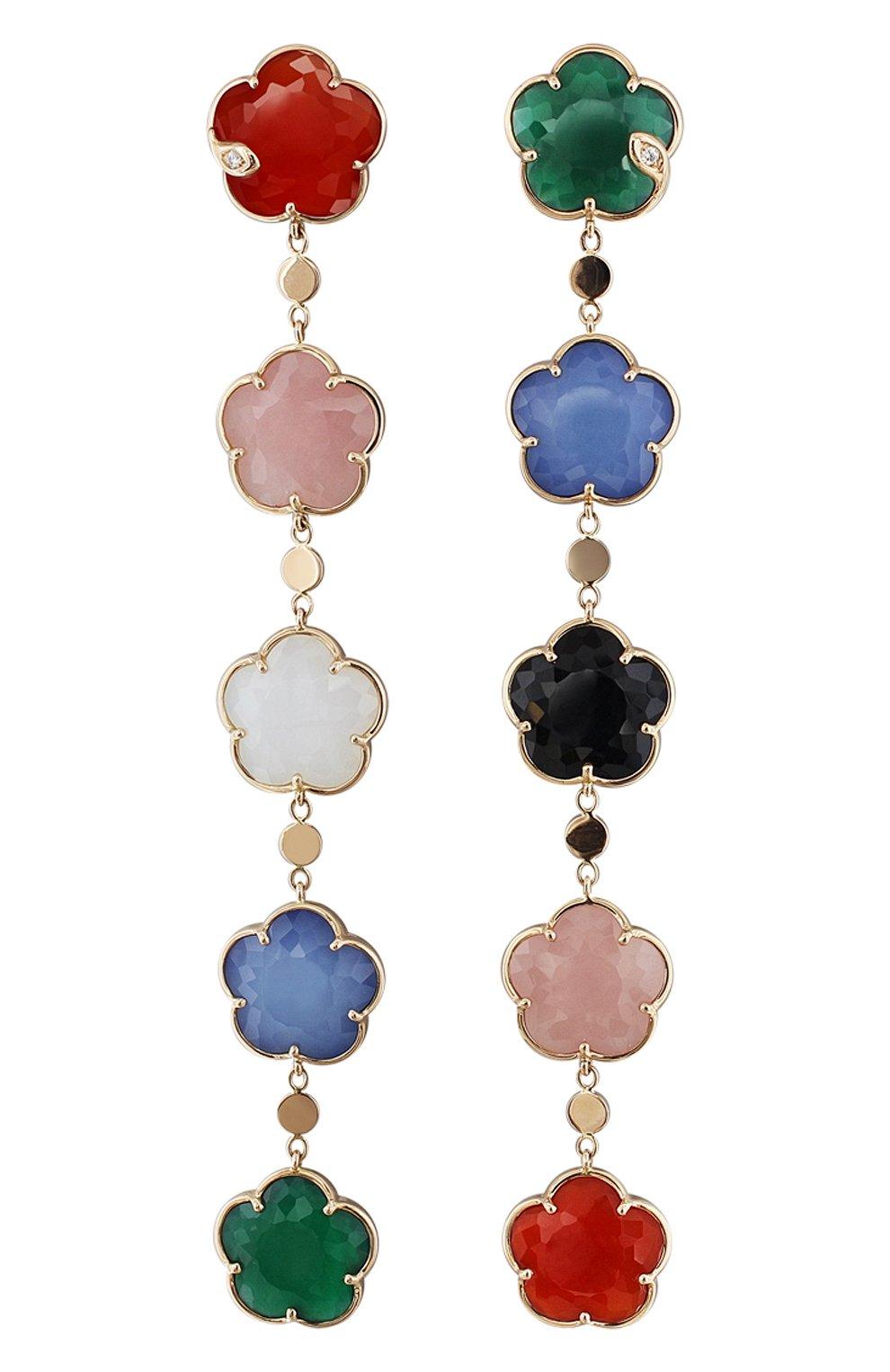 Женские серьги PASQUALE BRUNI бесцветного цвета, арт. 16265R   Фото 1 (Драгоценные камни: Бриллианты; Материал сплава: Розовое золото)