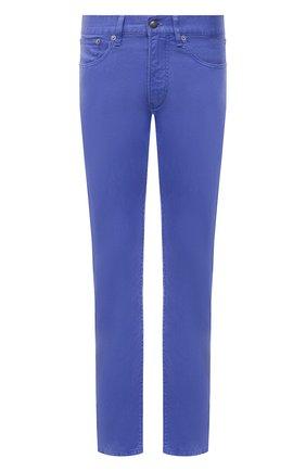 Мужские брюки изо льна и хлопка RALPH LAUREN синего цвета, арт. 790798751 | Фото 1