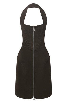 Женское льняное платье BOTTEGA VENETA коричневого цвета, арт. 660268/V0SF0 | Фото 1