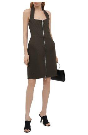 Женское льняное платье BOTTEGA VENETA коричневого цвета, арт. 660268/V0SF0 | Фото 2