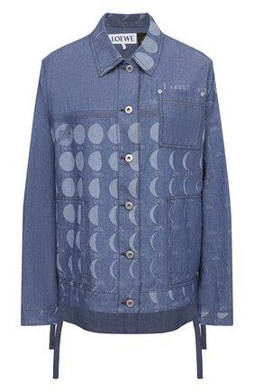 Женская джинсовая куртка loewe x paula's ibiza LOEWE голубого цвета, арт. S616Y02X05   Фото 1