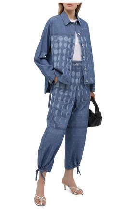 Женская джинсовая куртка loewe x paula's ibiza LOEWE голубого цвета, арт. S616Y02X05   Фото 2