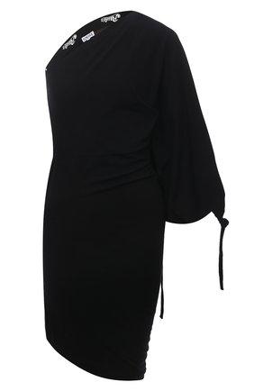 Женское платье loewe x paula's ibiza LOEWE черного цвета, арт. S616Y23X04 | Фото 1 (Женское Кросс-КТ: Платье-одежда; Случай: Повседневный; Длина Ж (юбки, платья, шорты): Мини; Рукава: 3/4; Стили: Бохо; Материал внешний: Хлопок, Синтетический материал)