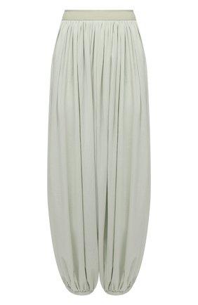 Женские хлопковые брюки loewe x paula's ibiza LOEWE светло-зеленого цвета, арт. S616Y04X04 | Фото 1 (Силуэт Ж (брюки и джинсы): Широкие; Стили: Бохо; Длина (брюки, джинсы): Стандартные; Женское Кросс-КТ: Брюки-одежда; Материал внешний: Хлопок)