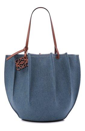 Женский сумка-тоут shell loewe x paula's ibiza LOEWE голубого цвета, арт. A884T51X03   Фото 1