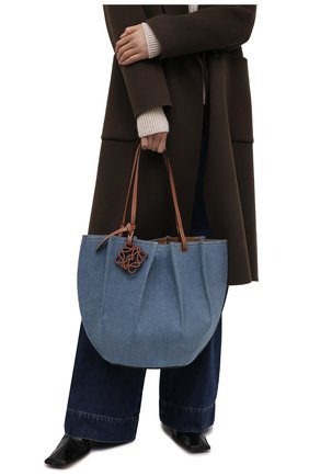 Женский сумка-тоут shell loewe x paula's ibiza LOEWE голубого цвета, арт. A884T51X03   Фото 2