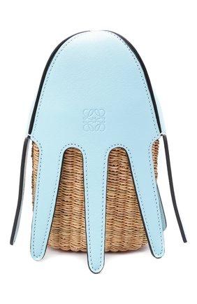 Женская сумка square basket loewe x paula's ibiza LOEWE голубого цвета, арт. A623093X01   Фото 1