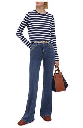 Женские кожаные сабо LOEWE коричневого цвета, арт. L814291X06 | Фото 2 (Подошва: Плоская; Материал внутренний: Натуральная кожа; Каблук тип: Устойчивый; Каблук высота: Без каблука)
