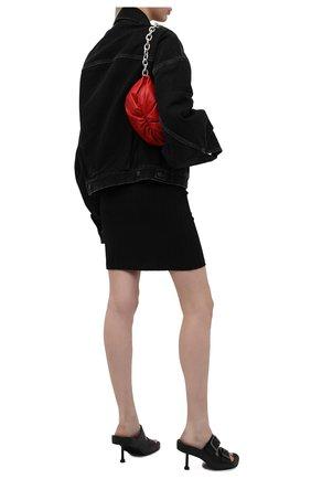 Женские кожаные мюли mallorca BALENCIAGA черного цвета, арт. 656621/WA2M6 | Фото 2