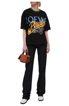 Женская хлопковая футболка loewe x paula's ibiza LOEWE черного цвета, арт. S616Y22X16 | Фото 2