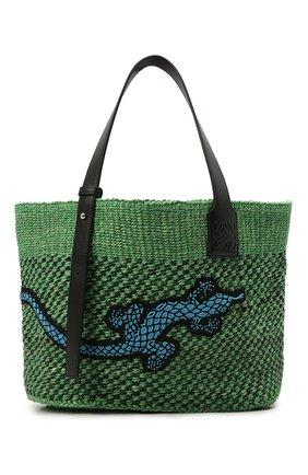 Женская сумка basket loewe x paula's ibiza LOEWE зеленого цвета, арт. A223T82X01   Фото 1