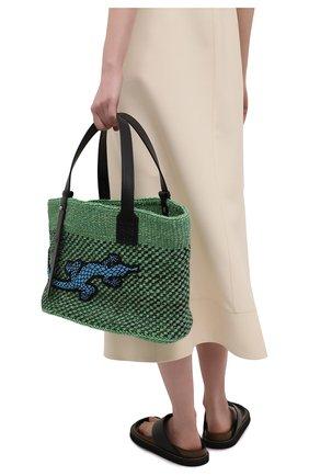 Женская сумка basket loewe x paula's ibiza LOEWE зеленого цвета, арт. A223T82X01   Фото 2