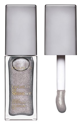 Мерцающее масло для губ lip comfort oil shimmer, 01 sequin flares CLARINS бесцветного цвета, арт. 80074330 | Фото 1