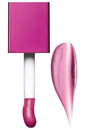 Мерцающее масло для губ lip comfort oil shimmer, 03 funky raspberry CLARINS бесцветного цвета, арт. 80074332 | Фото 2