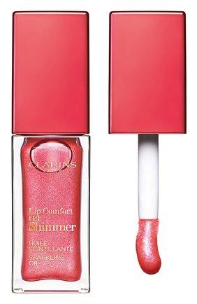Мерцающее масло для губ lip comfort oil shimmer, 05 pretty in pink CLARINS бесцветного цвета, арт. 80074334 | Фото 1