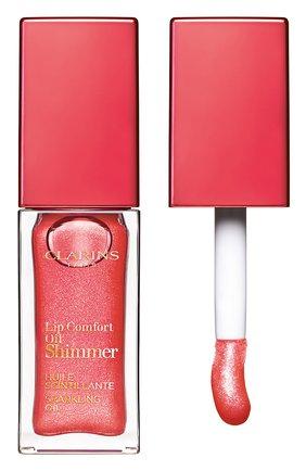 Мерцающее масло для губ lip comfort oil shimmer, 06 pop coral CLARINS бесцветного цвета, арт. 80074335 | Фото 1