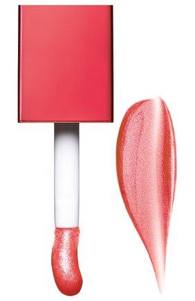 Мерцающее масло для губ lip comfort oil shimmer, 06 pop coral CLARINS бесцветного цвета, арт. 80074335 | Фото 2