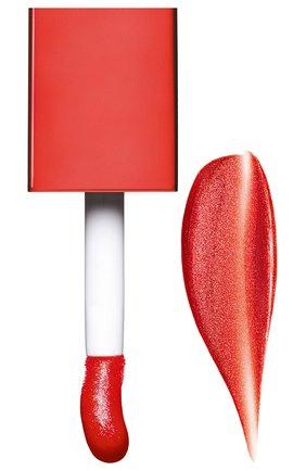 Мерцающее масло для губ lip comfort oil shimmer, 07 red hot CLARINS бесцветного цвета, арт. 80074350 | Фото 2