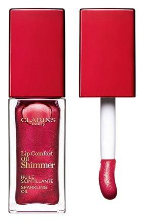 Мерцающее масло для губ lip comfort oil shimmer, 08 burgundy wine CLARINS бесцветного цвета, арт. 80074351 | Фото 1