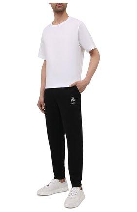 Мужские хлопковые джоггеры HUGO черного цвета, арт. 50452628 | Фото 2 (Силуэт М (брюки): Джоггеры; Стили: Спорт-шик; Материал внешний: Хлопок; Длина (брюки, джинсы): Стандартные; Мужское Кросс-КТ: Брюки-трикотаж)