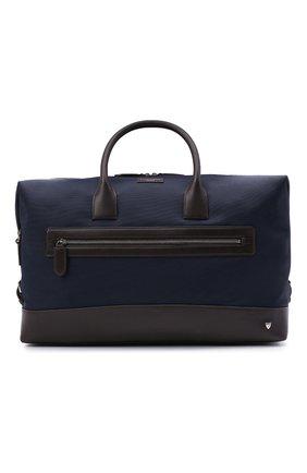 Мужская комбинированная дорожная сумка ASPINAL OF LONDON темно-синего цвета, арт. 025-2195_21940000 | Фото 1
