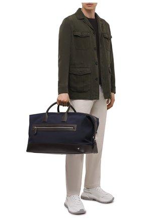 Мужская комбинированная дорожная сумка ASPINAL OF LONDON темно-синего цвета, арт. 025-2195_21940000 | Фото 2