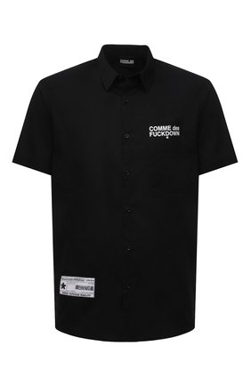 Мужская хлопковая рубашка COMME DES FUCKDOWN черного цвета, арт. CDFU1197 | Фото 1
