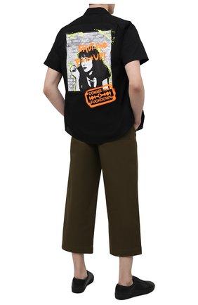 Мужская хлопковая рубашка COMME DES FUCKDOWN черного цвета, арт. CDFU1197 | Фото 2