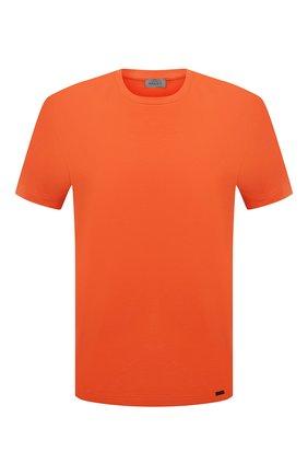 Мужская хлопковая футболка HANRO оранжевого цвета, арт. 075050 | Фото 1