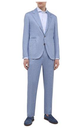 Мужская хлопковая сорочка CANALI голубого цвета, арт. XXC5/GX02176 | Фото 2