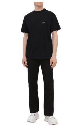 Мужская хлопковая футболка VETEMENTS черного цвета, арт. UA52TR160B 1602/M | Фото 2