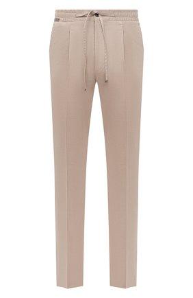 Мужские брюки CORNELIANI бежевого цвета, арт. 874L03-1114503/00 | Фото 1