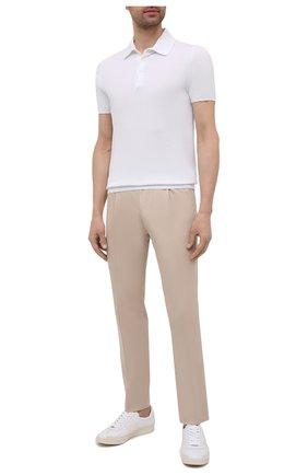 Мужские брюки CORNELIANI бежевого цвета, арт. 874L03-1114503/00 | Фото 2