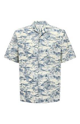 Мужская рубашка из хлопка и льна Z ZEGNA разноцветного цвета, арт. 905280/ZC0B2   Фото 1