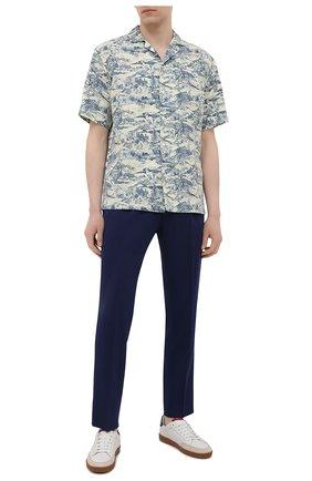 Мужская рубашка из хлопка и льна Z ZEGNA разноцветного цвета, арт. 905280/ZC0B2   Фото 2