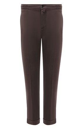Мужские брюки KITON коричневого цвета, арт. UFPLACJ07T37   Фото 1