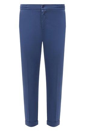 Мужские брюки KITON голубого цвета, арт. UFPLACJ07T37 | Фото 1
