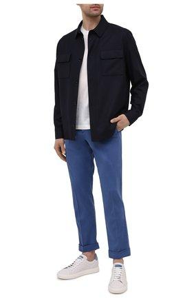 Мужские брюки KITON голубого цвета, арт. UFPLACJ07T37 | Фото 2