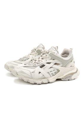 Мужские комбинированные кроссовки track 2.0 BALENCIAGA светло-серого цвета, арт. 568614/W3AE1 | Фото 1
