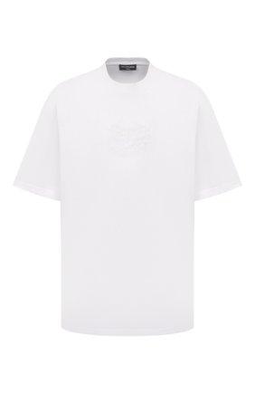 Мужская хлопковая футболка BALENCIAGA белого цвета, арт. 651795/TKV71 | Фото 1