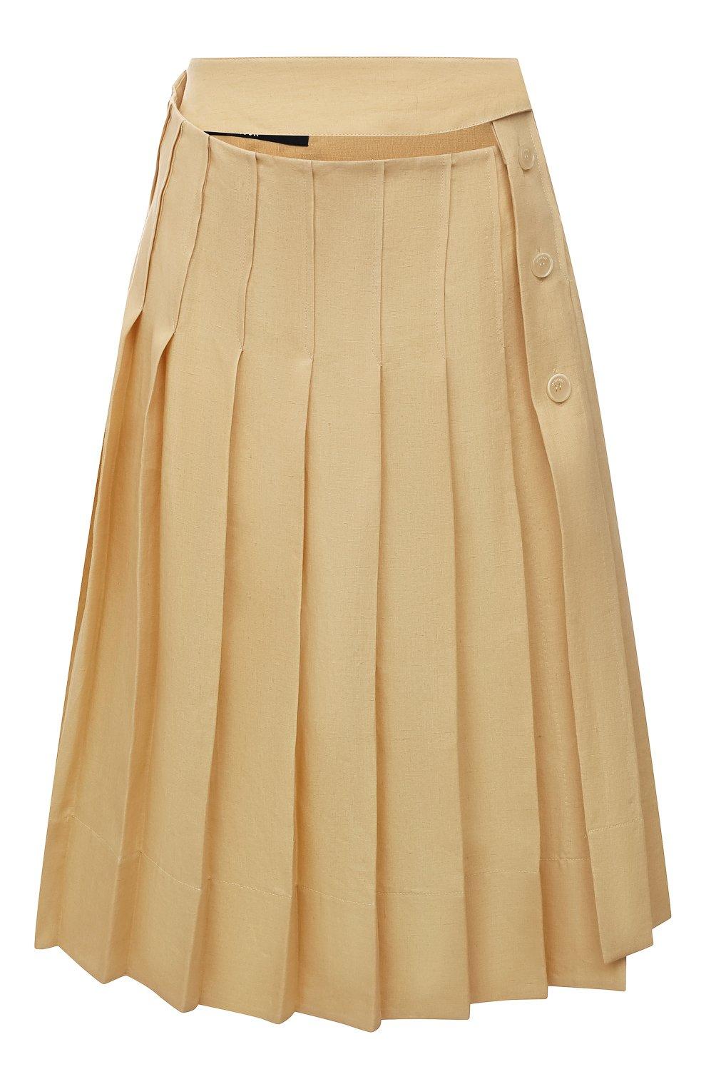 Женская льняная юбка JACQUEMUS  цвета, арт. 211SK05/101230   Фото 1
