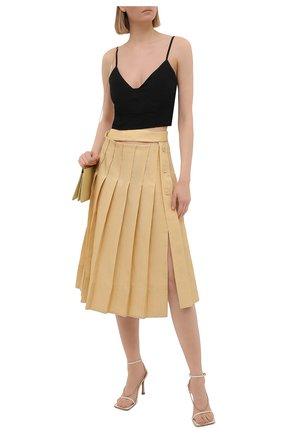 Женская льняная юбка JACQUEMUS  цвета, арт. 211SK05/101230   Фото 2