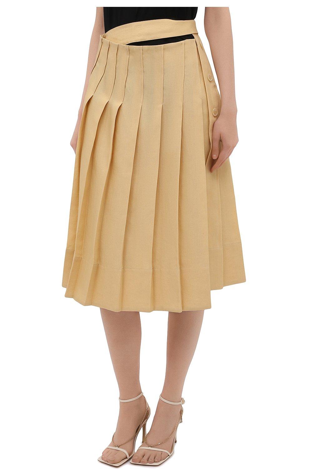 Женская льняная юбка JACQUEMUS  цвета, арт. 211SK05/101230   Фото 3