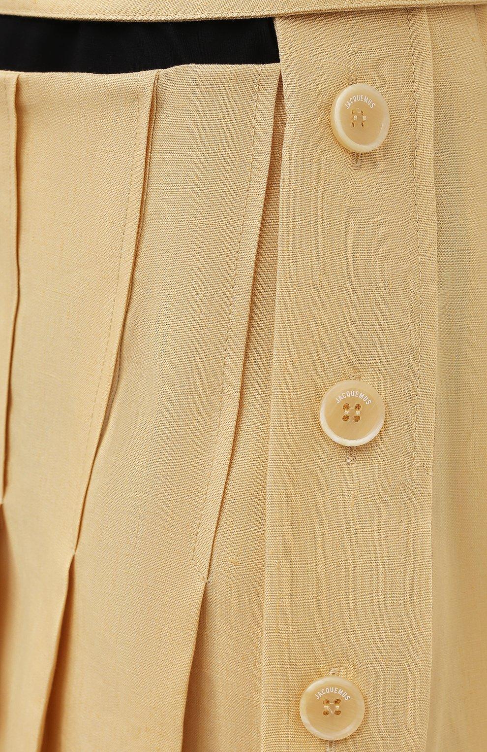 Женская льняная юбка JACQUEMUS  цвета, арт. 211SK05/101230   Фото 5